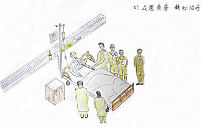 耄耋老人手绘日记感谢中医院